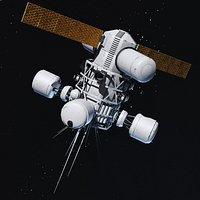 space satellite radar 3D model