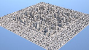City Downtown and Suburb 3D model