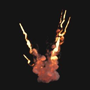 vdb explosion flames 3D model