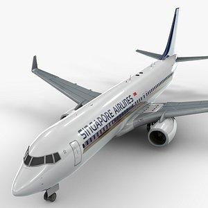 3D model Boeing 737-8 MAX SINGAPORE Airlines L1344