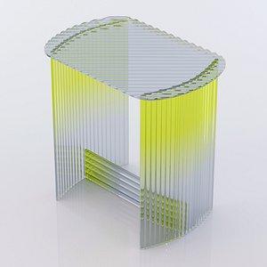 Fluted Side Table 3D model