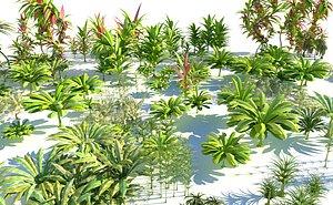 3D jurassic plant jura model