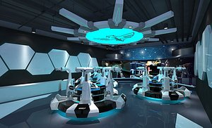 3D VR exhibition hall equipment VR experience hall science fiction technology sense