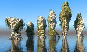 Jungle Rocks Pack 6 3D model