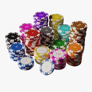 3D poker chip