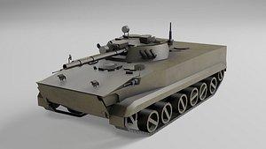 3D BMP3 low poly model