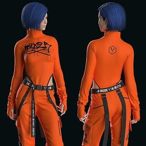 3D Female Modern Outfit3 Marvelous Designer project