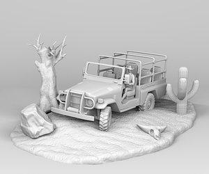safari jeep 3D model