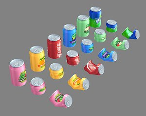 drinks cans 3D model