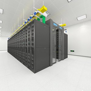 3D server room monitoring model
