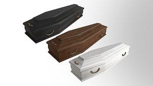 coffin wooden 3D
