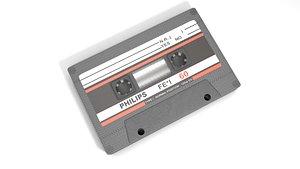 3D model Cassette Audio Tape