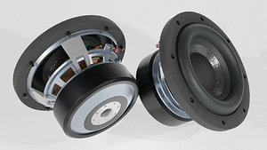 3D loudspeaker blender speakers model