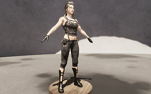 3D Female - Army woman