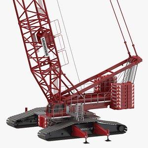 3D model liebherr crawler crane lr