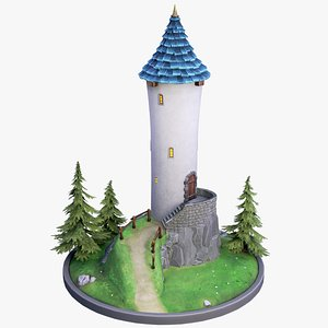 3D model Stylized Tower