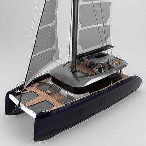 3D catamaran sunreef 80