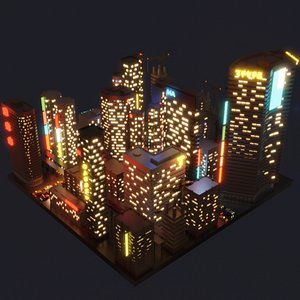 lighting towers 3D model