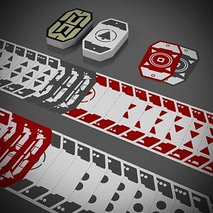 futuristic poker cards sabacc 3D