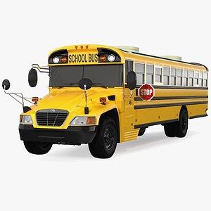 3D Blue Bird Vision School Bus Exterior Only