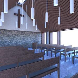 3D model Church Chapel Interior