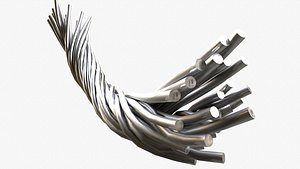 metal wire FBX 3D model