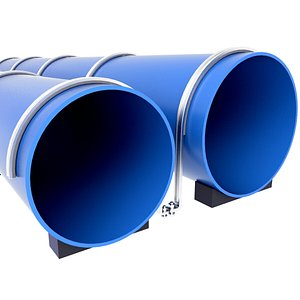 3D pipe water sewer model