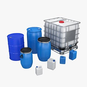 industrial containers liquids 3D