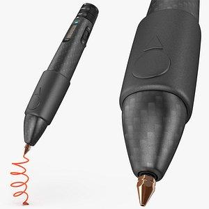 3D Printing Pen Black Extrudes Spiral 3D model