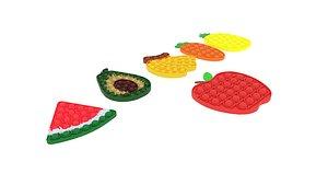 3D Fruits Pop It Fidget Toys Set