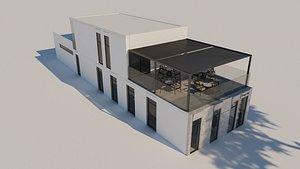 Modern Cafe Terrazzo Theme 3D model