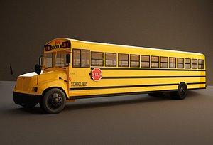 3D bus school model