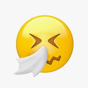 3D model Apple Sneezing Face