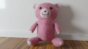 A PRETTY PINK COLOR TEDDY BEAR 3D