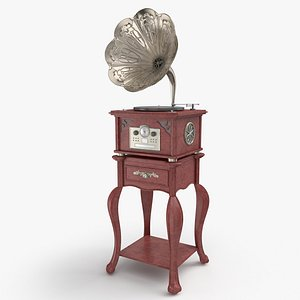3D Vintage Gramaphone0001