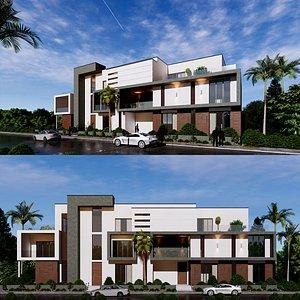 modern building 25 3D model