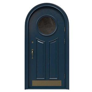 Entrance classic door 44 3D model