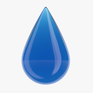3D water drop model