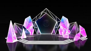 3D Stage concert design stage designer New Year Eve music festival China tide conference scene