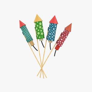 Firework Rocket 3D model