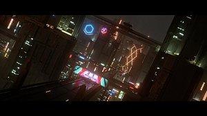 Mega Futuristic City 3D model