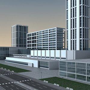 Modern City 10 3D model