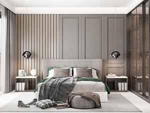 Modern Style Bedroom - 511 3D