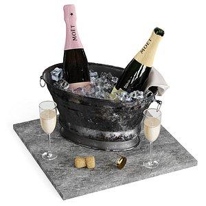 champagne bucket 3D model