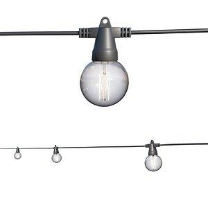 3D model String Lights Edison Lamps