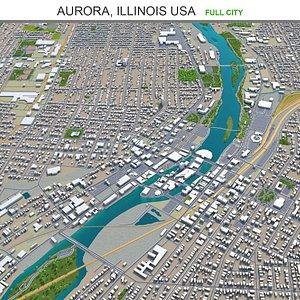 3D Aurora Illinois USA model