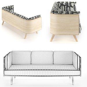 Benchmark Sage Low Sofa 3D model