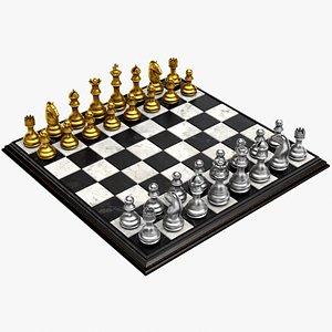 Gold Chess 3D model