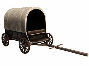 3D model Medieval Wagon