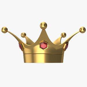 3D Cartoon King Crown